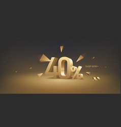 40 percent off discount sale vector image