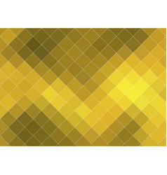 abstract gold bright background with square vector image