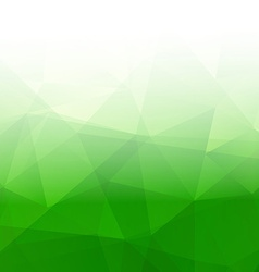 Abstract Triangle Geometrical green Background vector image