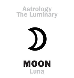 Astrology luminary moon luna vector