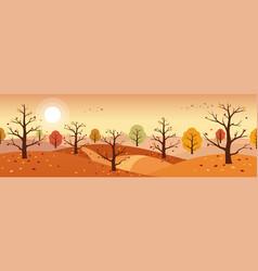 Autumn countryside landscape landscapes vector