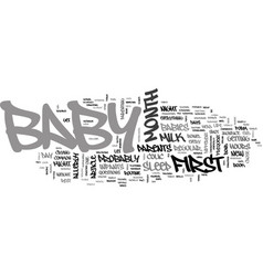 Baby s first month at a glance text word cloud vector