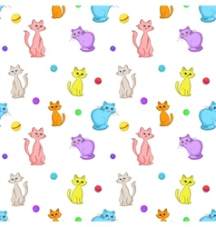 Background cats and balls vector image