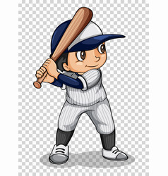 baseball player holding baseball bat vector image