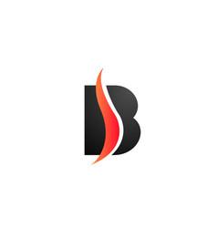 Black and white b alphabet letter logo icon for vector