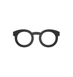 black glasses icon isolated on white background vector image