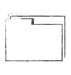 Blurred silhouette image documents folder with vector