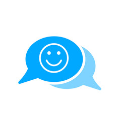 bubble chat emoji face message smiley icon vector image