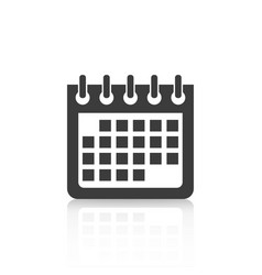 calendar icon web design and flat vector image