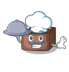 chef with food homemade sweet cake with almonds vector image
