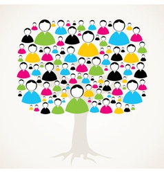 colorful social media network tree stock vector image
