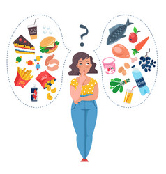 Concepts diet and healthy eating vector