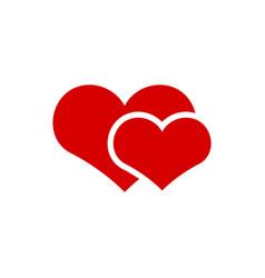 couple heart icon graphic design template vector image
