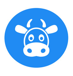 cow flat icon single high quality outline symbol vector image