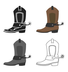 Cowboy boot icon cartoon singe western icon from vector