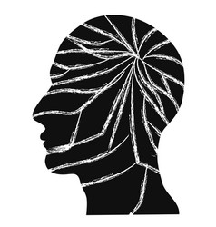 Crack people head vector