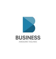 creative b letter concept logo vector image