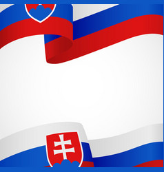 decoration of slovakia insignia on white vector image