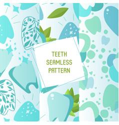 Dentist set seamless patterns vector