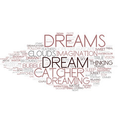 Dreams word cloud concept vector