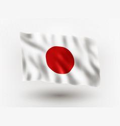 Flag japan vector