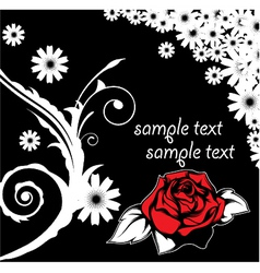 Floral background with rose vector