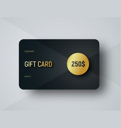 Gift card template with a gold circle for face vector