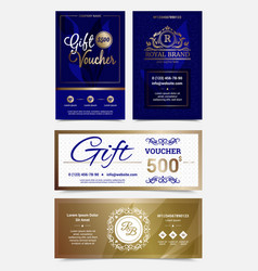 Gift voucher design set vector