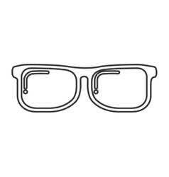 glasses nerd isolated icon vector image