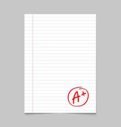 grade result a plus hand drawn grade a vector image