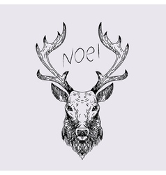 Hand drawn wild deer vector