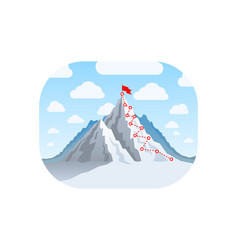 hiking trip to top mountain vector image