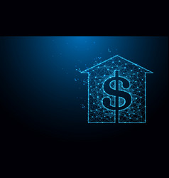 House with dollar sign icon vector