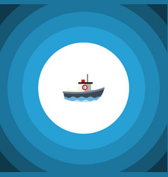 isolated vessel flat icon transport vector image