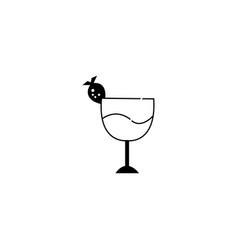 juice black line design icon vector image