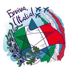 Logo contains symbols italy- frecce tricolori vector
