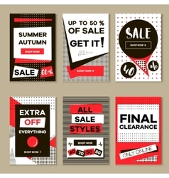 Media banners for online shopping mobile website vector image