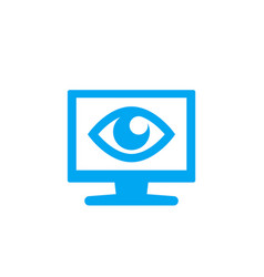 Monitoring icon isolated on white vector