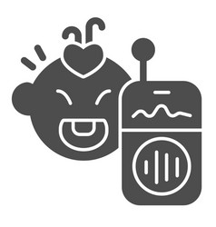 Nanny radio and a basolid icon baby-radio and vector