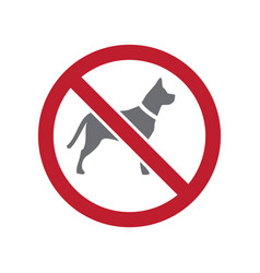 No pets allowed sign on white background for vector