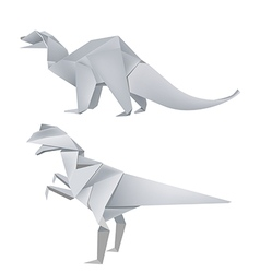 Origami dinosaurus vector image