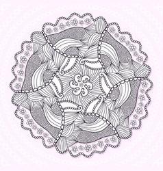 Ornamental mandala circle lace ornament pattern vector