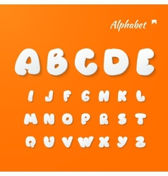 Paper Graphic Alphabet Set vector