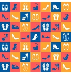 Pattern with different kinds of shoes vector