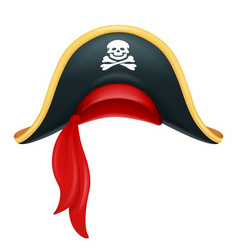 Pirate hat corsair headgear vector