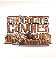 Poster for chocolate candy vector