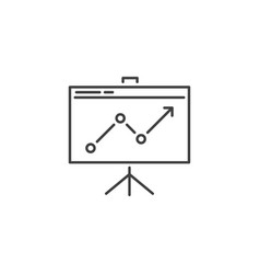 presentation related line icon vector image