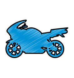 Racing motorcycle silhouette vector