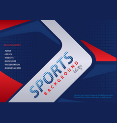 Red-blue background in sport design style vector