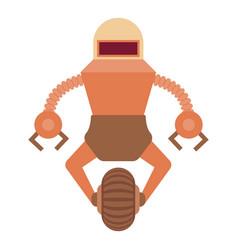 Robot guard icon cartoon style vector